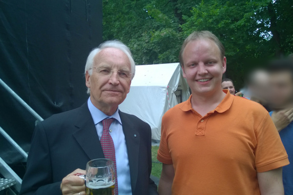Dr. Edmund Stoiber and me at TUNIX, Munich, June 23, 2014