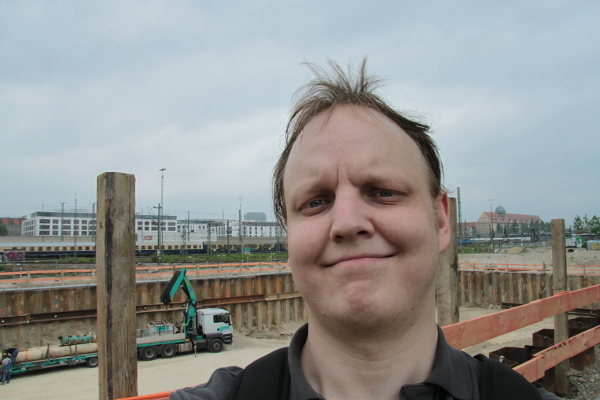 Me on another construction site in Munich city, May 17, 2013