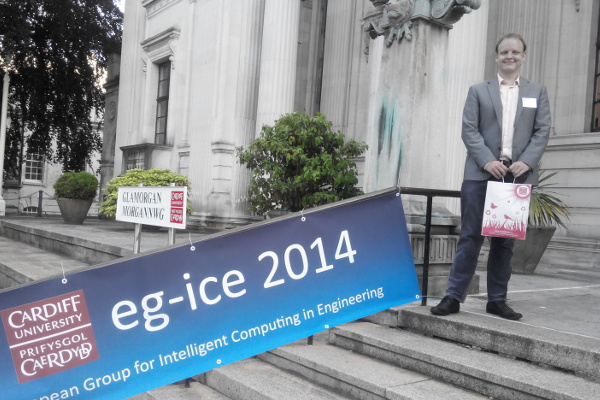 Me in Cardiff at the EG-ICE conference, July 15, 2014