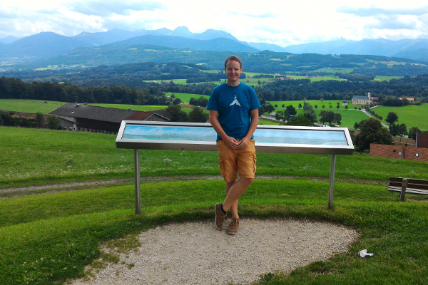 Me at the Irschenberg viewing platform, August 3, 2016