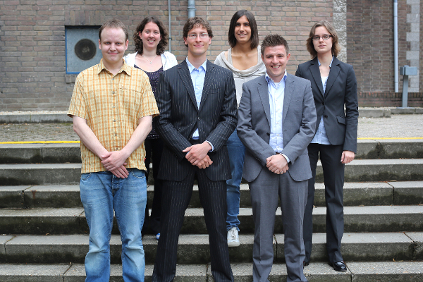 My Operations Research Master class at the graduation ceremony in Maastricht, July 14th, 2012 - Me, Linda Meessen, Robbert Harms, Teresa Piovesan, Ruud Wetzels, Mandy Tak (from left to right)